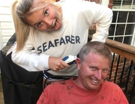 Christine Parker became a hairdresser