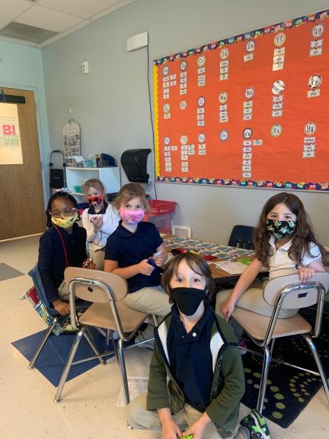 Mrs. Mizgala's Kindergarten class working to make a difference.