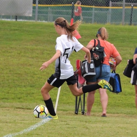 Brooke Bandy playing the sports she loves.
